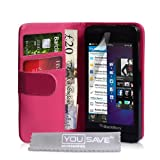 Blackberry Z10 Case Hot Pink PU Leather Wallet Coverby Yousave Accessories