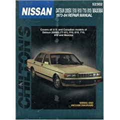 【クリックで詳細表示】Chilton's Nissan: Datsun 200Sx/510/610/710/810/Maxima 1973-84 Repair Manual (Chilton's Total Car Care Repair Manual) [ペーパーバック]