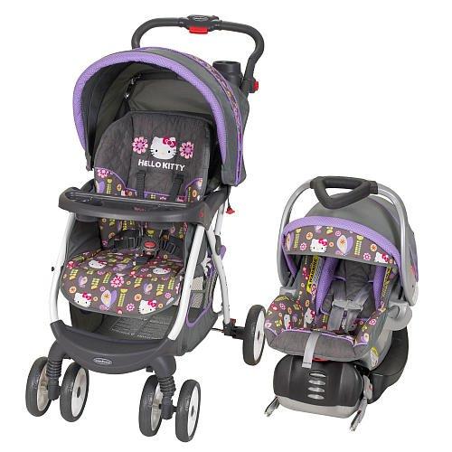 Baby Trend Flower Dance Travel System Stroller Hello Kitty front-210427