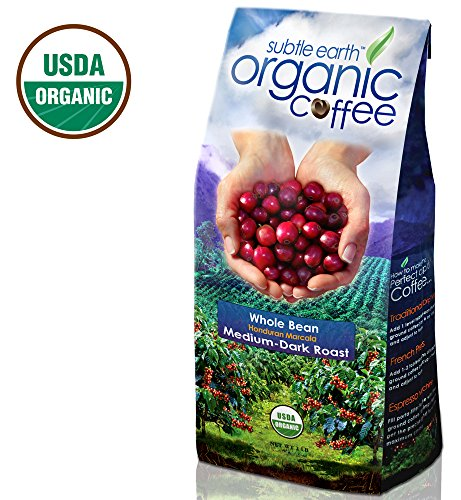 Cafe Don Pablo Subtle Earth Organic Gourmet Coffee Medium-Dark Roast Whole Bean, 2 Pound