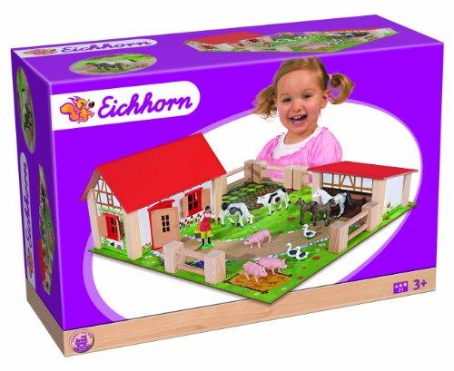 Eichhorn 100004304 - kleiner Bauernhof, 21-teilig 38 x 35 cm