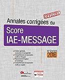 Annales corrigées du score IAE-MESSAGE 2016...