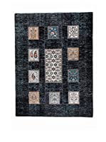 CarpeTrade Alfombra Vintage Patch (Negro/Multicolor)