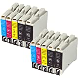 10 Brother compatible LC970 / LC1000 cartouche d'encre pour DCP 130C, 135C, 150C, 153C, 157C, 330C, 350C, 540CN, 560C, 750CN, 750CW, 770CW, MFC 235C, 240C, 260C, 440CN, 460CN, 465CN, 630CD, 630CDW, 660CN, 665CW, 680CN, 845CW, 850CDN, 850CDWN, 860CDN, 3360C, 5460CN, 5860CN, FAX 1335, 1360, 1460, 1560, 2480C