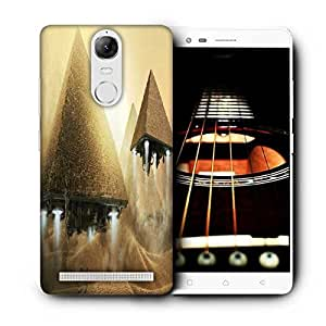 Snoogg Alien Pyramids Printed Protective Phone Back Case Cover For Lenovo K5 Note