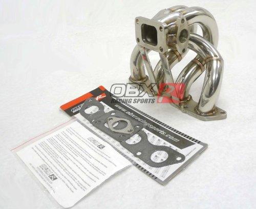 OBX Turbo Manifold Header 88-00 Honda Civic D Series D15 D16 SOHC EX LX DX SI (D Series Turbo Manifold compare prices)