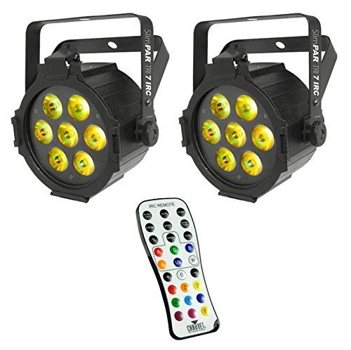 2 Chauvet Slimpar Tri 7 Irc Dj High Powered Led Dmx Rgb Par Wash Lights + Remote