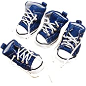 Generic Pet Dog Denim Sport Shoes Boots Sneakers - #5