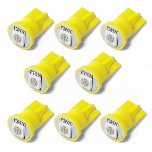 8X T10 194 168 501 1-Smd 5050 Led Car Light Bulb Amber