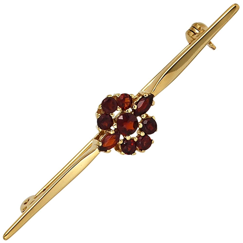 Damen Gold Brosche 375 Gold Gelbgold 9 Granate rot günstig bestellen