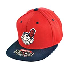Cleveland Indians American Needle MLB Back 2 Front Snapback Cooperstown Series... by American Needle