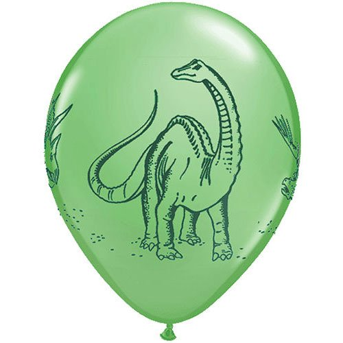 "11"" Dinosaurs In Action Festive Colors Balloons (10 ct) Latex (10 per package)"