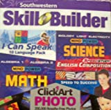 Southwestern Skill Builder Five CD Software Boxed Set #103127 - I Can Speak 10 Language Pack, Mind Power Algebra 1 & 2 Math, Biology, Light & Electricity Mind Power Science, Speed Study English Composition & Speed to Success + Click Art Photo with 200,000 Royalty Free Photos