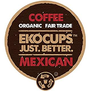 EKOCUPS Organic Artisan Mexican Coffee, Medium Roast