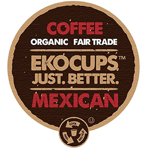 EKOCUPS Organic Artisan  Mexican Coffee, Medium Roast, in Recyclable Single Serve Cups for Keurig K-cup Brewers, 40 count (Mexican Coffee compare prices)