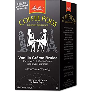 Melitta Vanilla Creme Brulee Coffee Pods, 18ct