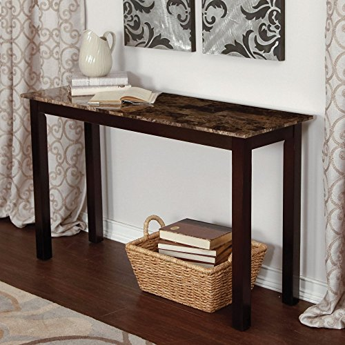 Palazzo Faux Marble Console Table (Sofa Tables Living Room compare prices)