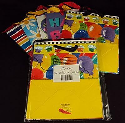 5 Medium Gift Bag Set All Occassion Assorted