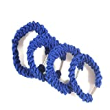 4 Girls Royal Blue Braid Hair Elastics IN4430
