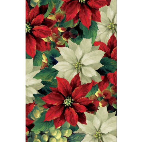Regal Poinsettia Plastic Tablecover