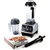 Vitamix CIA Professional Series Brushed Stainless Steel Blender with Eastman Tritan Container, Dry Blade, and 2 Cookbooks