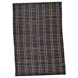 Bamboo Place Mat(Set of 6 Peices, Size- 13x19 Inch, Coffee Cream)