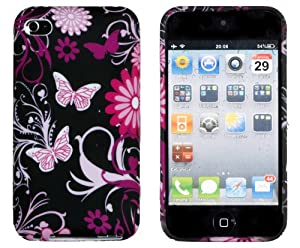 Black Butterfly Flexible Gel Case for Apple iPod Touch 4G (4th Generation)