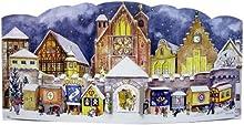 Gran 3D Calendario de Adviento 24 puertas Calendario de Adviento Catedral lugar 430 x 205 mm 930 1947 - - diseño alemán antiguo tradicional