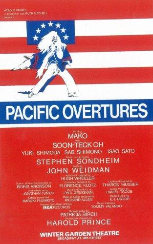 "Pacific Overtures (Broadway) 27,94 43,18 cm x (11""), 28 x 17 x 44 cm, motivo: Film Poster"