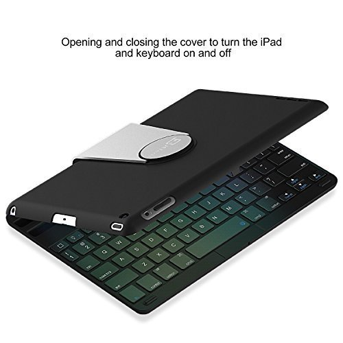 JETech iPad Mini 4 Bluetooth キーボードカバー iPad Mini 4専用 360度角度調整可能スタンド K2014