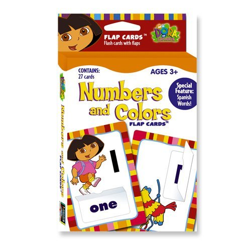 Dora the Explorer Numbers and Colors Flap Cards by Learning Horizons - 1