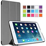 MoKo Ultra Slim Smart shell Cover Case for Mini 3 (2014 Edition with Touch ID), Mini 2 (2013 Model with Retina Display) and Mini (2012 1st Gen), GRAY (Will not fit iPad Mini 4)