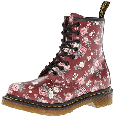 Dr. Martens Women's 1460 W Boot,Cherry Red Vintage Softy,3 UK/5 M US