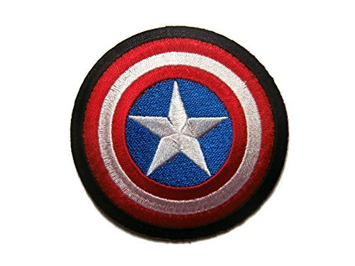 Captain America The First Avenger Shield Marvel Superhero Cartoon Logo Kid Baby Boy Jacket T shirt Patch Sew Iron on Embroidered Sign Gift Costume (Captain America Logo Iron On compare prices)