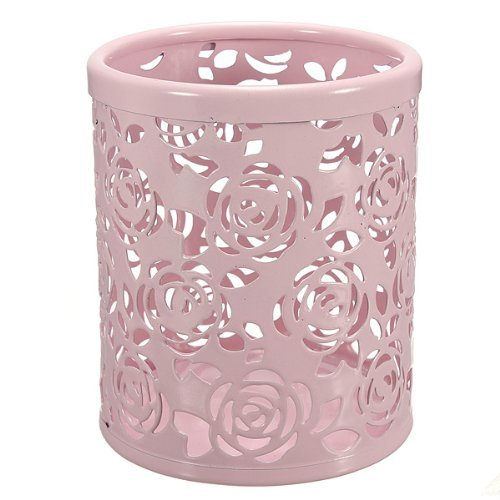 water-wood-hollow-rose-flower-pattern-cylinder-pen-pencil-pot-holder-container-organizer-pink-by-wat