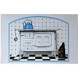 """Tablón de anuncios magnético """"Horno Antiguo de la Cocina"""" incl. 8 magnéticos con accesorios de cocina"""