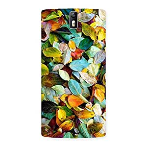 Enticing Beautiful Colorfull Leafs Back Case Cover for One Plus One