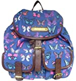 New Girly Handbags Butterfly Print Retro Vintage Rucksack Ladies Backpack