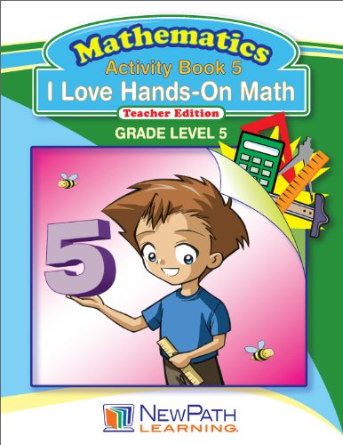 NewPath Learning I Love Hands-On Math Reproducible Workbook, Grade 5