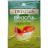 Twinings Peach & Cherry Blossom Green Tea - 4 x 20 Tea Bags