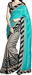 RGR Enterprice Woman's Bhagalpuri Designer Saree (Avr blue_Multi-Coloured_Free Size)