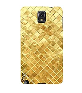 Omnam Golden Square Printed With Effect Designer Back Cover Case For Samsung Galaxy Note 3