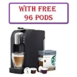Kitchen - Starbucks Verismo 580 Brewer Coffee Machine Black with Free 96 Pods