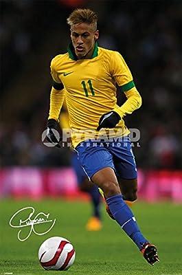 Neymar (Autograph) Poster - 24x36