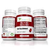 Blood Builder Iron Supplement ✮ With Vitamin C, Folic Acid, Vitamin B12, 25mg of Iron for Gentle slow release Pill ✮ Helps Boost Red Blood Cell Production, Anemia, and Hemoglobin Production for Women