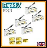 5 x Rapid R23 Hand Tacker / Stapler + FREE 25000 Staples 6mm