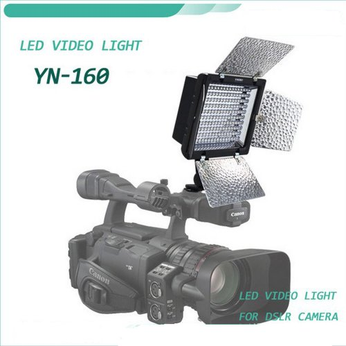 Yongnuo Professional Illumination Dimming Led Video Light Flash Yn160 With 160Pcs Lamps 4 Color Sheets For Canon Nikon Olympus Pentax
