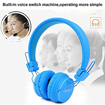 Bluetooth Headset, Sophia Shop V4.1 Bluetooth Wireless Foldable Stereo 4 in 1 Noise Cancelling Headphones with Mic/Micro SD Card Slot/FM Radio For Smartphones PC Tablets(Blue)