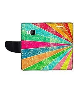 KolorEdge Printed Flip Cover For HTC One M9 Multicolor - (1478-50KeMLogo12481HTCM9)