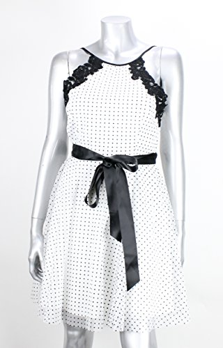 Teeze Me White-Black Polka-Dot Belted Dress 7